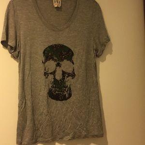 Haute hippie skull shirt